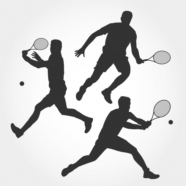 626x626 Men Tennis Player Silhouette Vector Premium Download