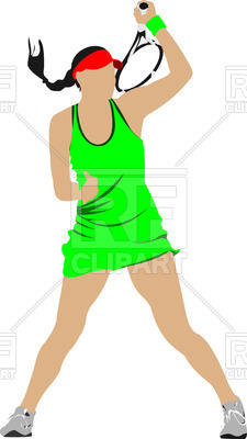 225x400 Silhouette Of Female Tennis Player Vector Image Vector Artwork