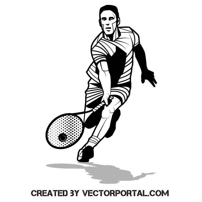 660x660 Tennis Player Vector