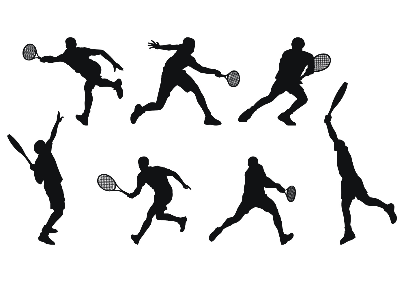 1400x980 Tennis Free Vector Art