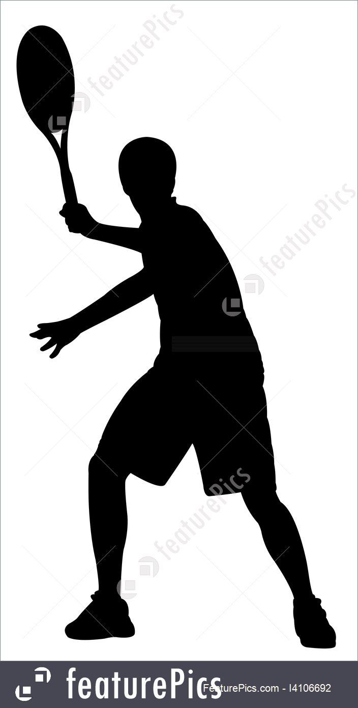704x1392 Tennis Player Boy Silhouette Vector