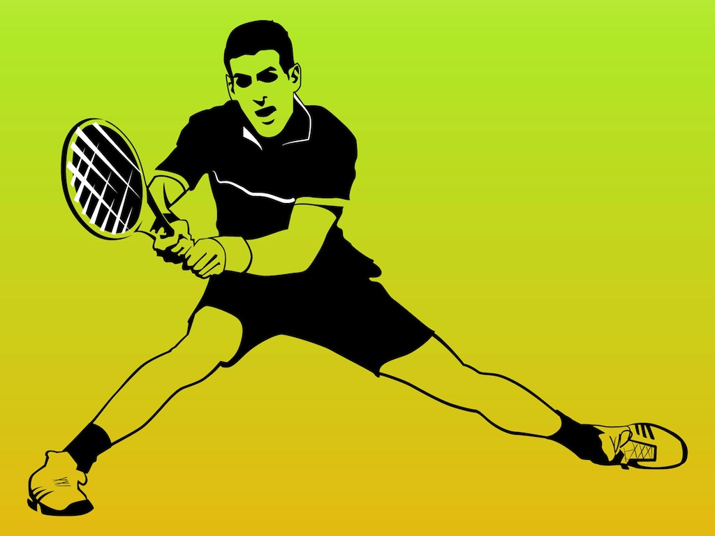 1024x768 Tennis Player Vector Vector Art Amp Graphics