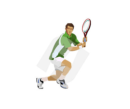 425x356 Tennis Player Vector Clip Art 00098