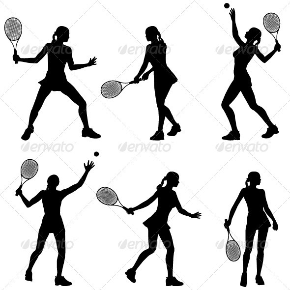 590x590 Woman Tennis Player Silhouette By Doru Graphicriver