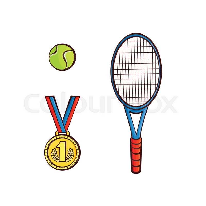 800x800 Vector Flat Sketch Tennis Ball, Racquet Sport Equipment, First