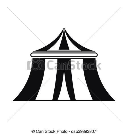 450x470 Circus Tent Icon, Simple Style. Circus Tent Icon In Simple Style