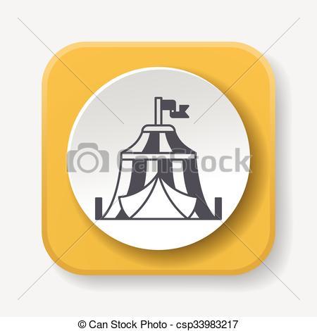 450x470 Circus Tent Icon Vector Clip Art