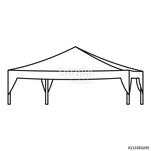 500x500 Event Tent Icon. Outline Illustration Of Event Tent Vector Icon