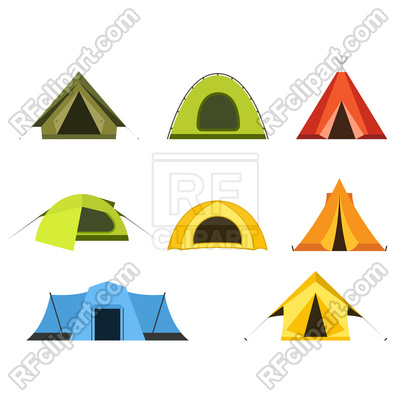 400x400 Set Of Camping Tents Icon