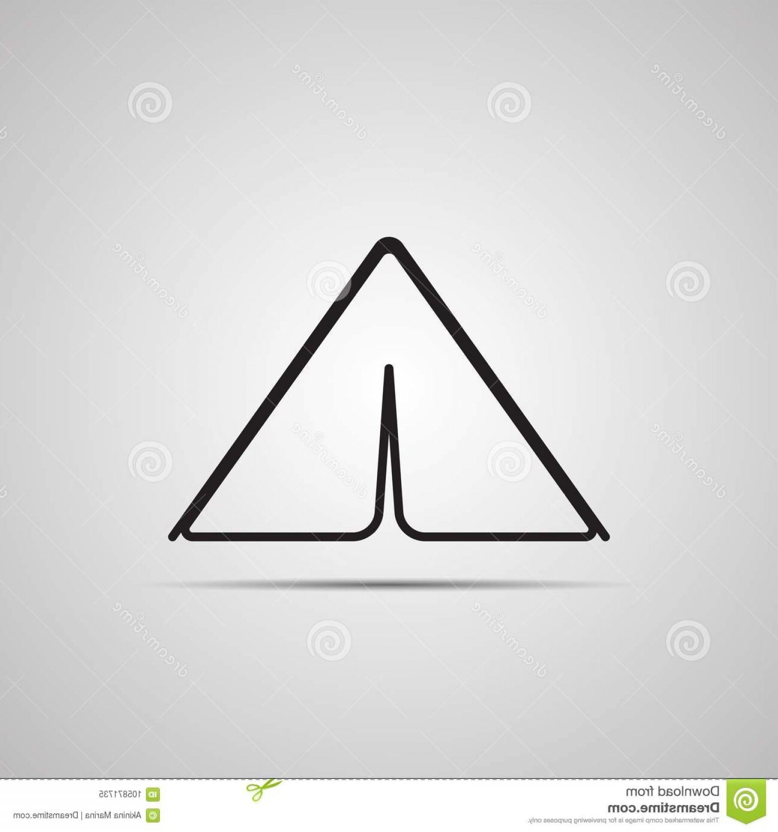 1560x1668 Silhouette Flat Icon Vector Design Illustration Tent Symbol