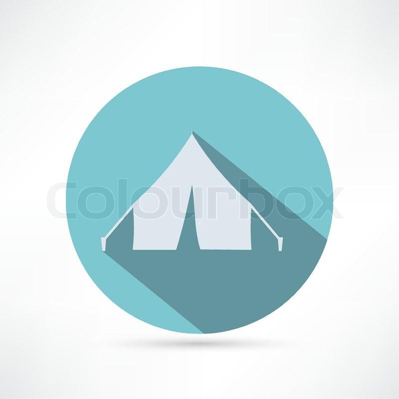 800x800 Tent Icon, Vector Illustration Stock Vector Colourbox