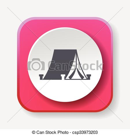 450x470 Tent Icon Vector Clipart