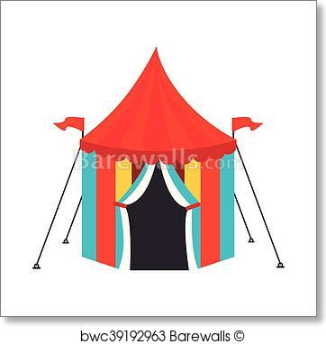 362x382 Art Print Of Circus Carnival Tent Icon Vector Illustration
