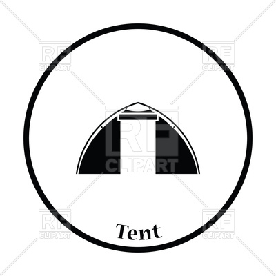 400x400 Thin Design Of Touristic Tent Icon Vector Image Vector Artwork