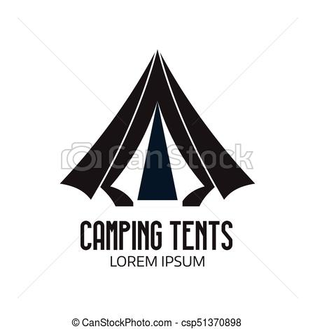 450x470 Tourist Camp Logo Or Tent Icon. Camping Place Logo Or Label
