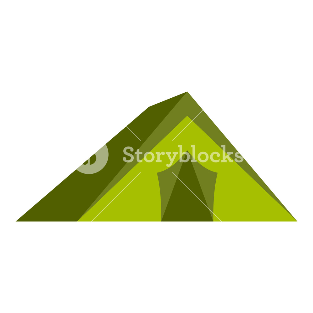 1000x1000 Tourist Tent Icon In Flat Style Isolated On White Background
