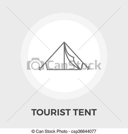450x470 Tourist Tent Vector Icon. Tourist Tent Icon Vector. Flat Icon