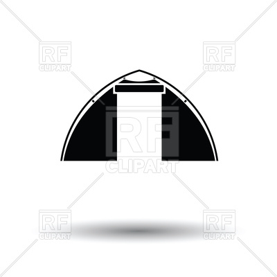 400x400 Touristic Tent Icon On White Background Vector Image Vector