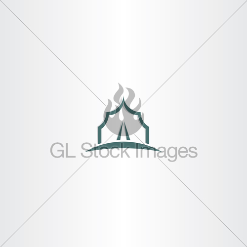 500x500 Vector Tent Icon Logo Symbol Gl Stock Images