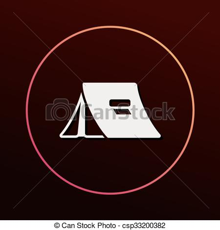 450x470 Camping Tent Icon Vector