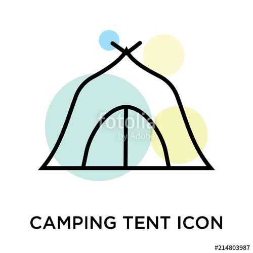 500x500 Camping Tent Icon Vector Sign And Symbol Isolated On White