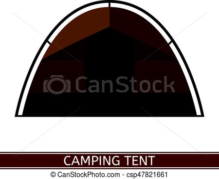 450x367 Camping Tent Icon. Camping Tent Vector Icon. Tourist Family Tent