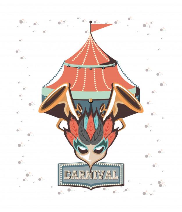 626x729 Carnival Circus Tent Icon Vector Illustration Design Vector