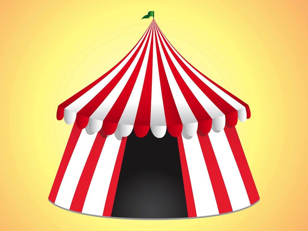 1024x768 Circus Tent Vector Art Amp Graphics