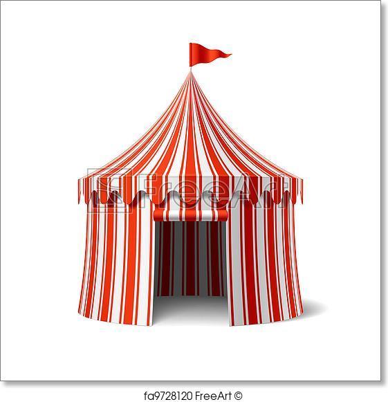 561x581 Free Art Print Of Circus Tent. Circus Tent Vector Illustration