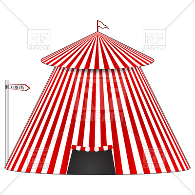 400x400 Stripy Circus Tent Vector Image Vector Artwork Of Architecture