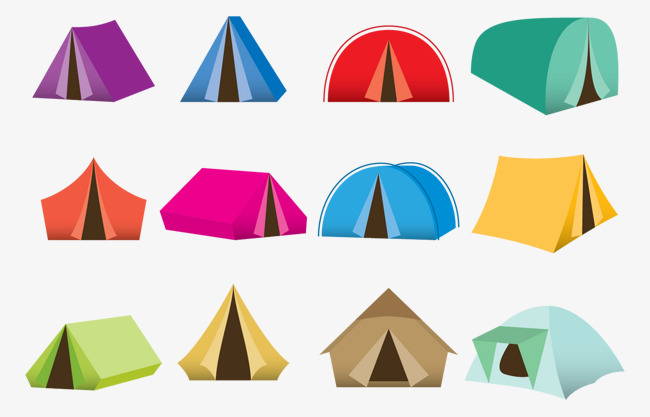 650x417 Vector Tent Camping, Tent Vector, Camping Vector, Colored Tents