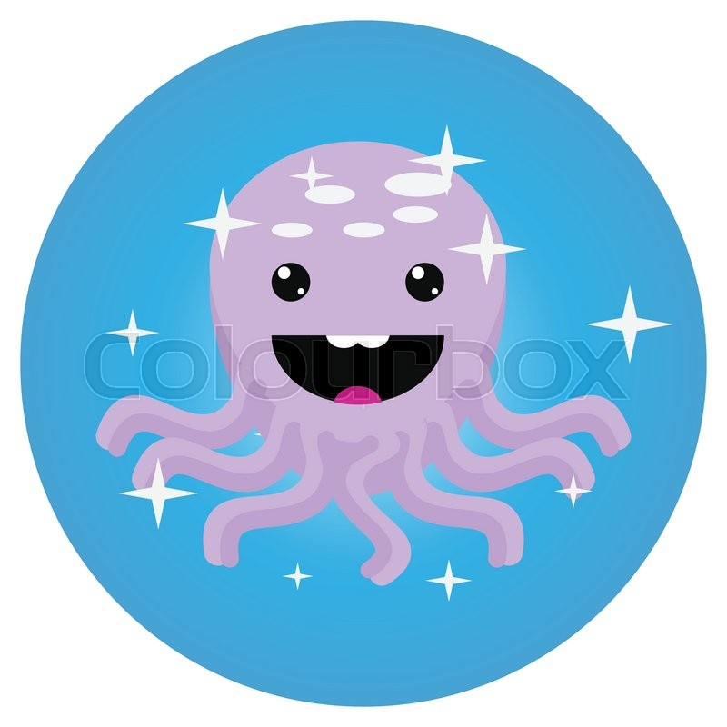 800x800 Octopus Icon App Mobile Flat. Squid And Octopus Isolated, Octopus