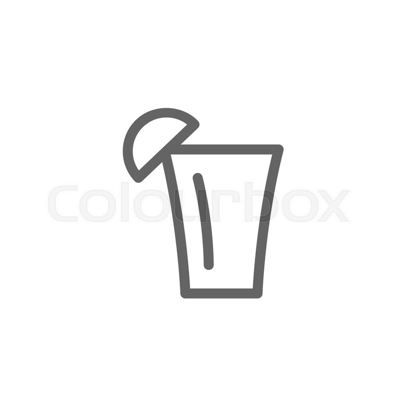 800x800 Simple Tequila Shot Line Icon. Symbol And Sign Vector Illustration