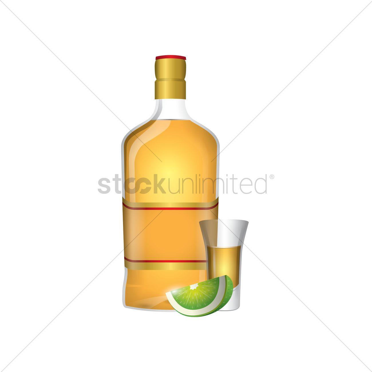 1300x1300 Tequila Shot Vector Image