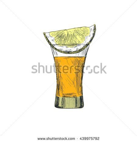 450x467 Collection Of Tequila Shot Drawing High Quality, Free