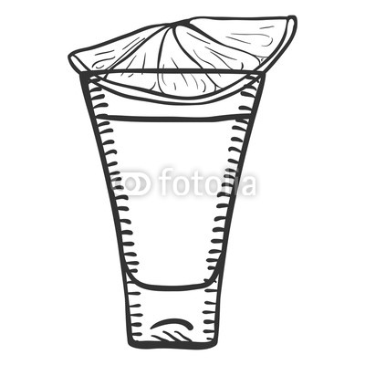 400x400 Vector Sketch Tequila Shot With Lime Slice Buy Photos Ap