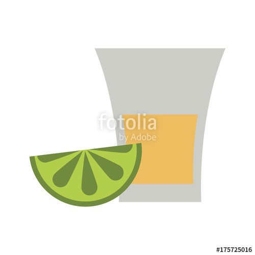 500x500 Tequila Shot With Lime Mexican Culture Related Icon Image Vector