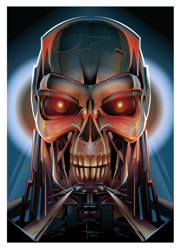 600x829 Terminator Vector T 800 @ Orlando Arocena, 2014 See More