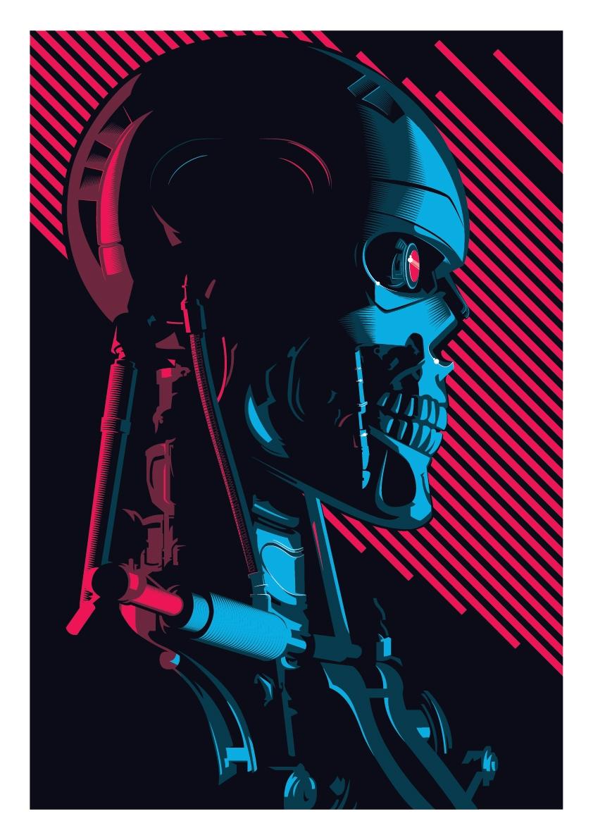842x1192 The Terminator Screen Print Vector Poster Art