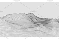 236x157 3d Wireframe Terrain Wide Angle Eps10 Vector Graphics 3d Wireframe