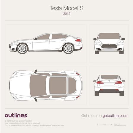 448x448 2012 Tesla Model S Drawings