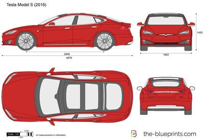 400x272 Tesla Model S Vector Drawing