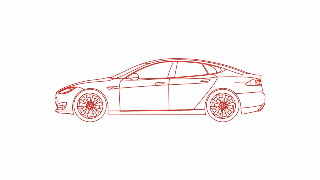 Printable Tesla Model X Coloring Pages