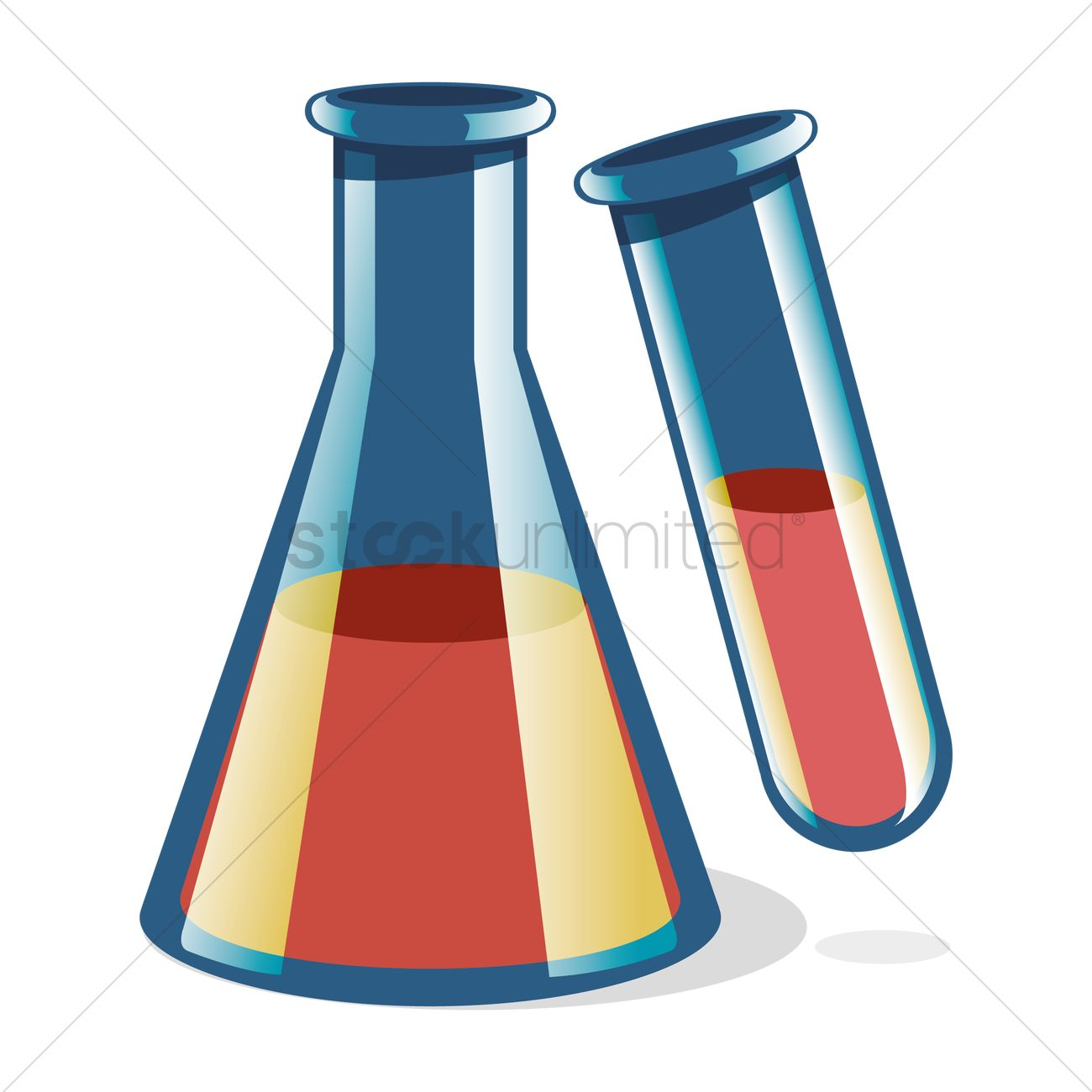 1300x1300 Laboratory Flask And Test Tube Vector Image