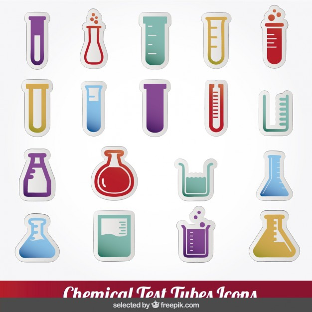 626x626 Colorful Chemical Test Tubes Icons Collection Vector Free Download