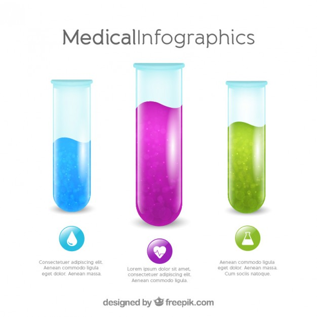 626x626 Test Tube Medical Infographic Template Vector Free Download