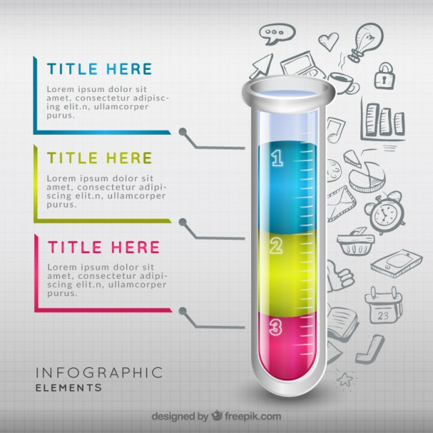 626x626 Test Tube Infographic Vector Free Download