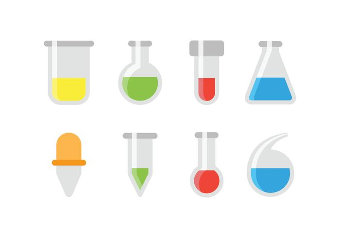 700x490 Chemical Test Tube And Glassware Icons