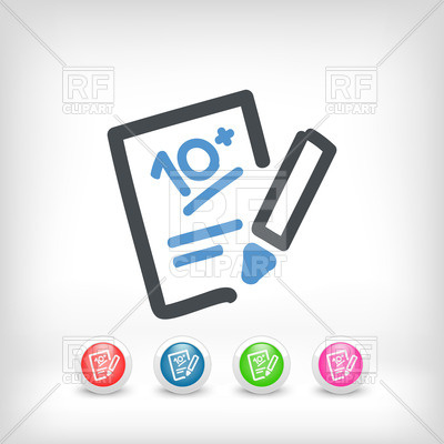 400x400 Successful Test Performance Result Vector Image Vector Artwork