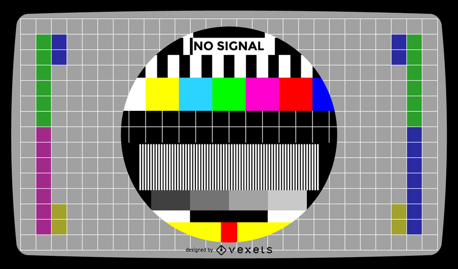 900x529 Television Test Screen No Signal Vector Illustration